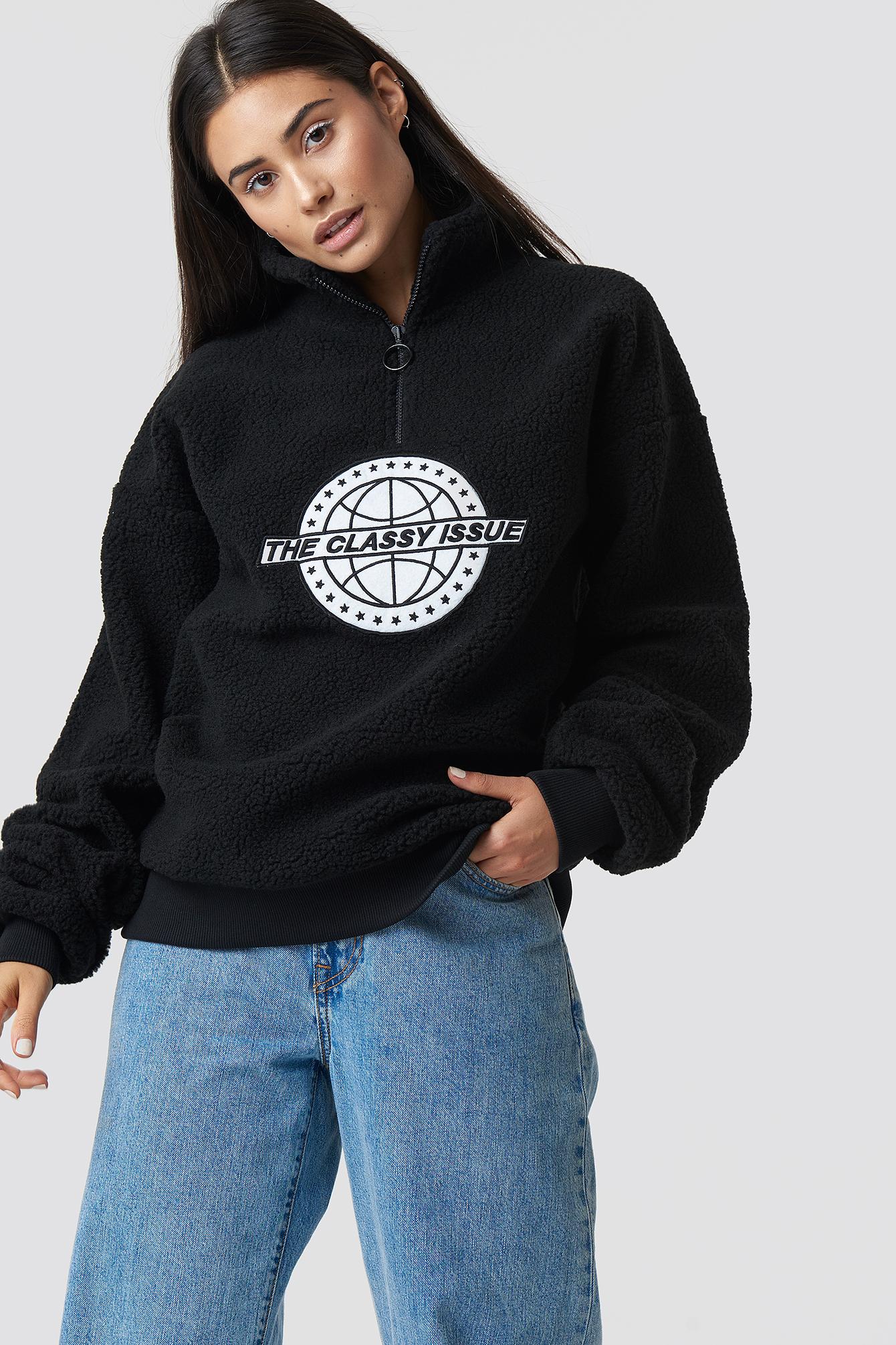 the classy issue x na-kd -  The Classy Polar Unisex Sweatshirt - Black