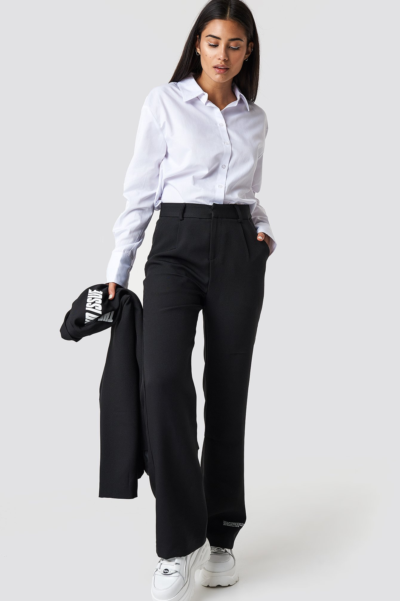 the classy issue x na-kd -  The Classy Suit Pants - Black
