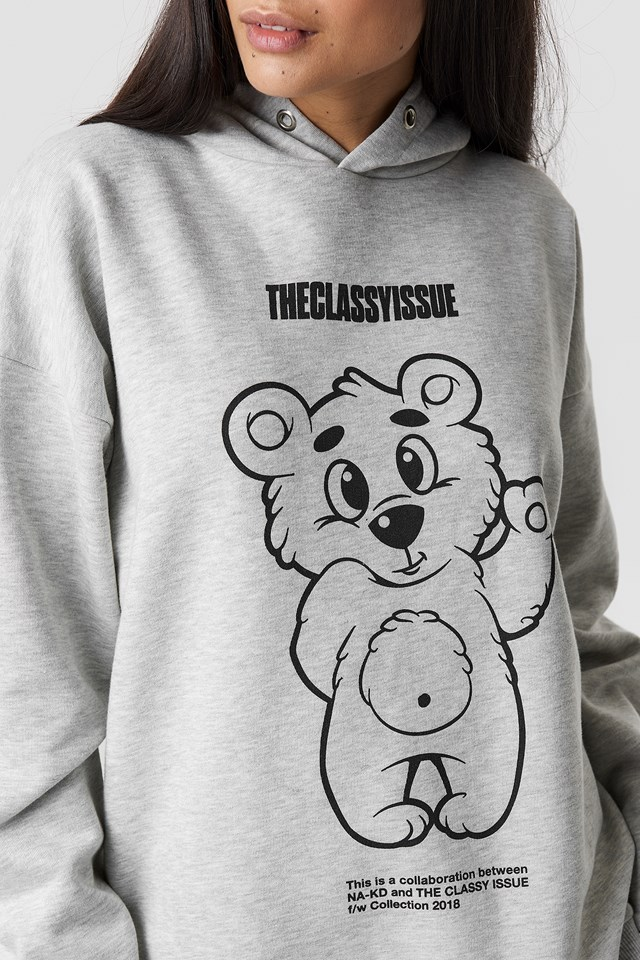 The Classy Teddy Unisex Hoodie NA-KD.COM