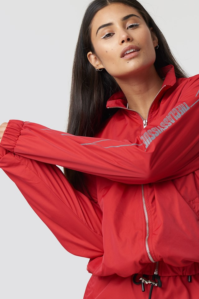 The Classy Track Jacket Red