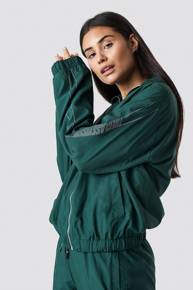 The Classy Track Jacket Green