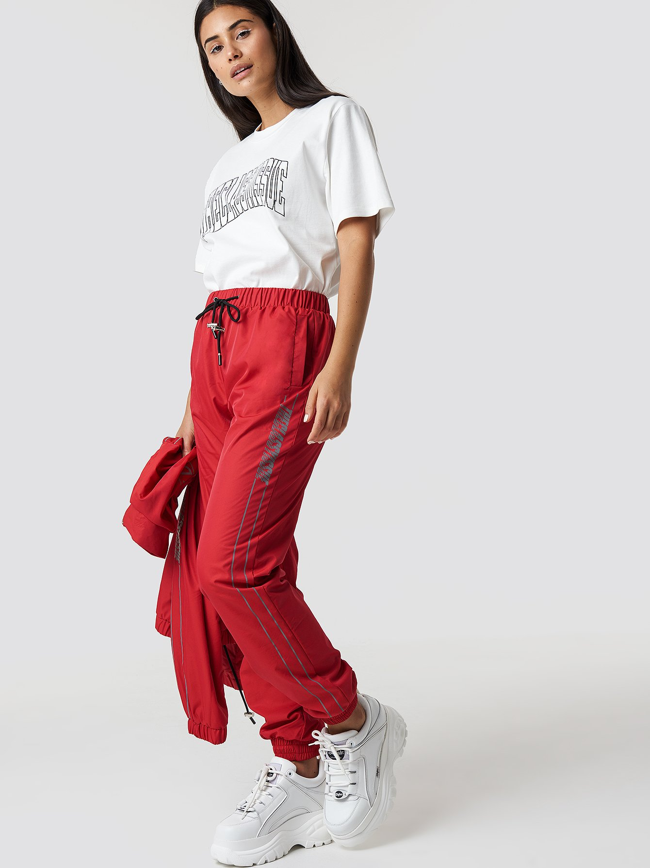 the classy issue x na-kd -  The Classy Track Pants - Red