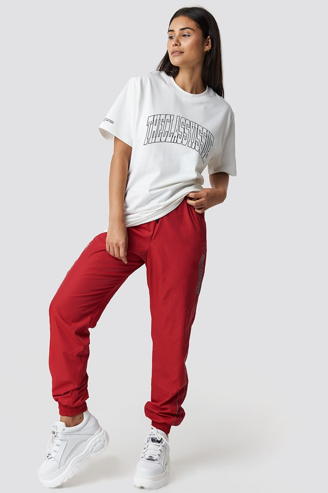 The Classy Track Pants Red