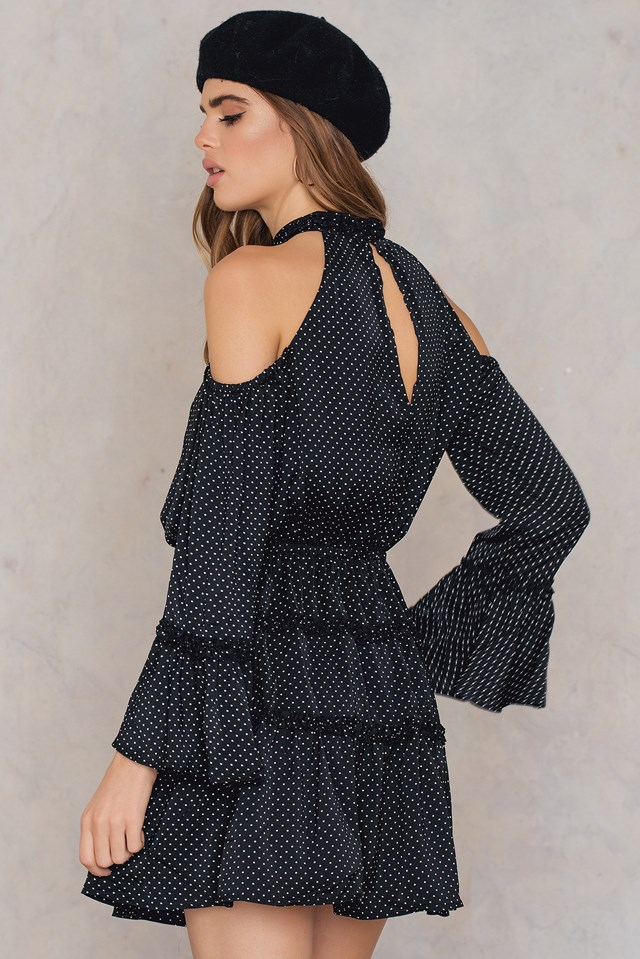 Banjo Polka Dot Dress Black/White