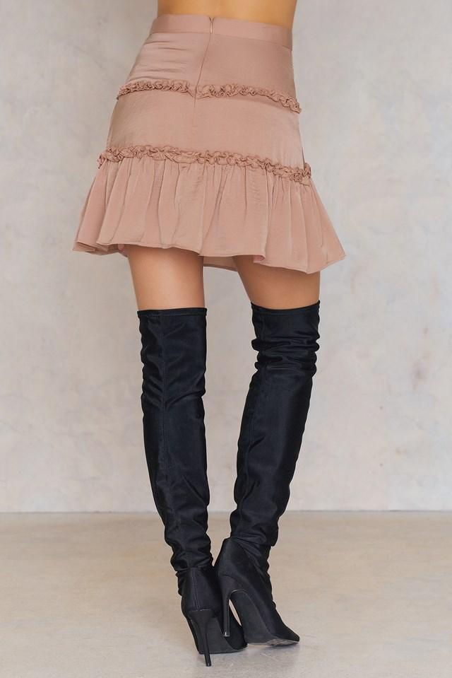 Banjo Skirt Dusty Blush