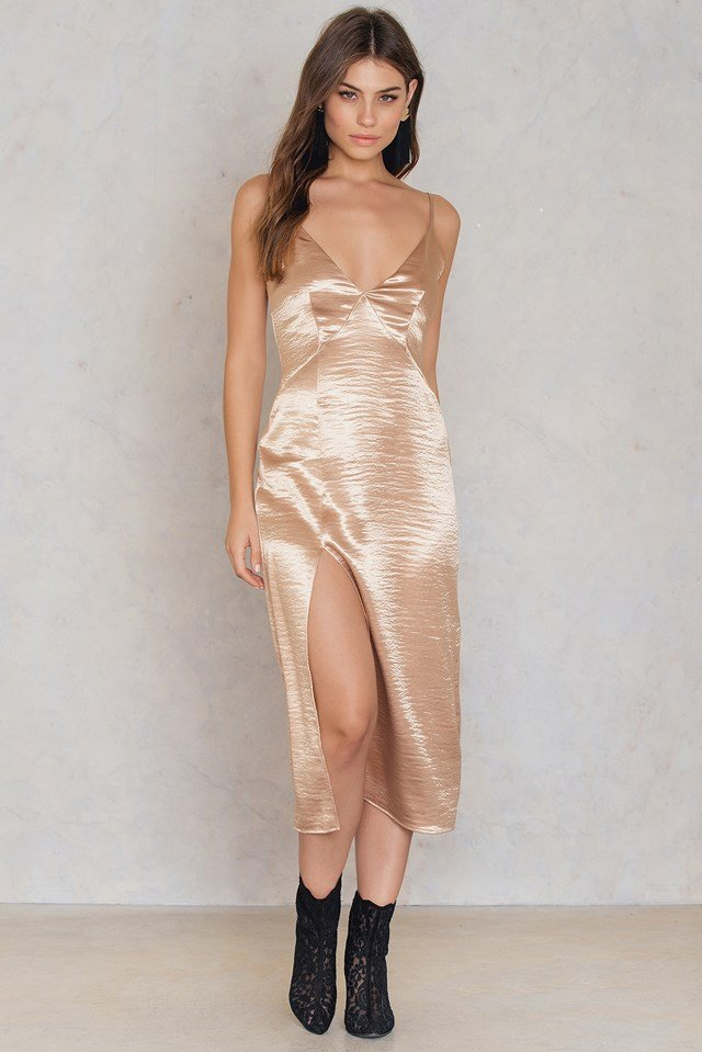 Mirabella Slip Dress Gold Dust