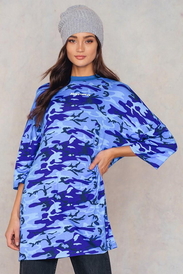 Karma Dress Blue Camo