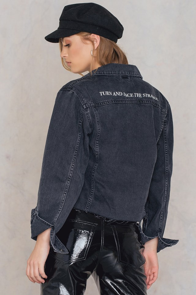 Revolve Denim Jacket Black