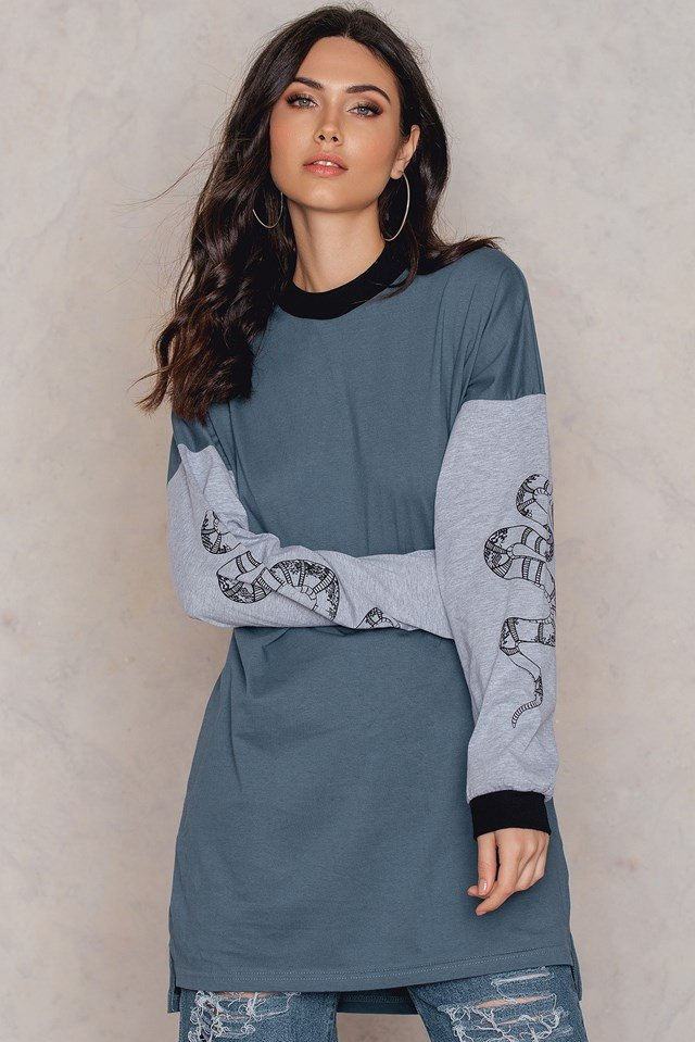 Serpent Sweatshirt Teal