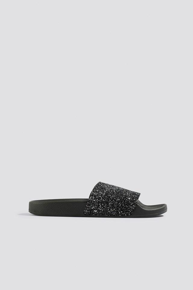 Glitter Slippers The White Brand