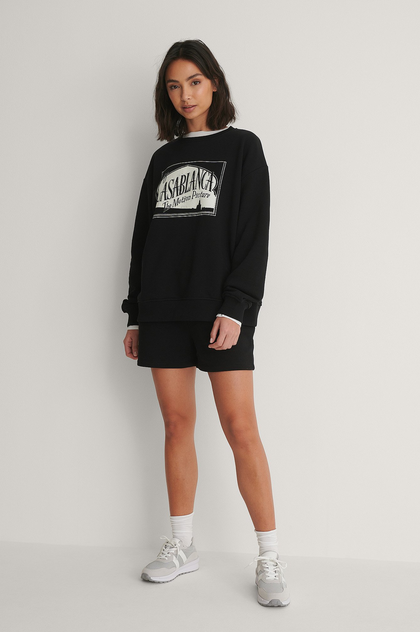 Black - Casablanca Logo Oversized Sweater
