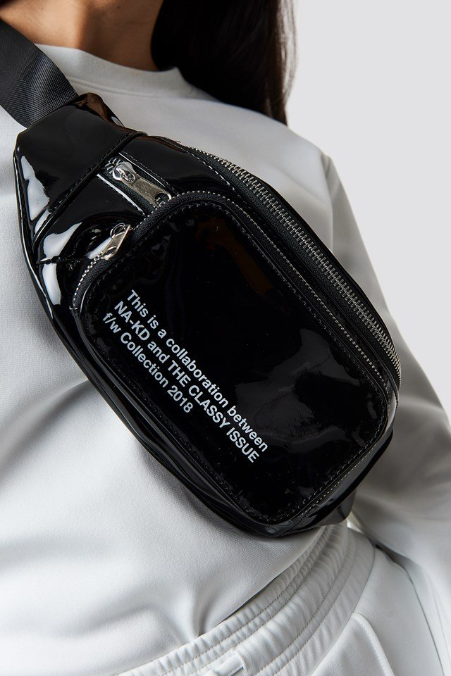 The Classy Fanny Pack Black Patent