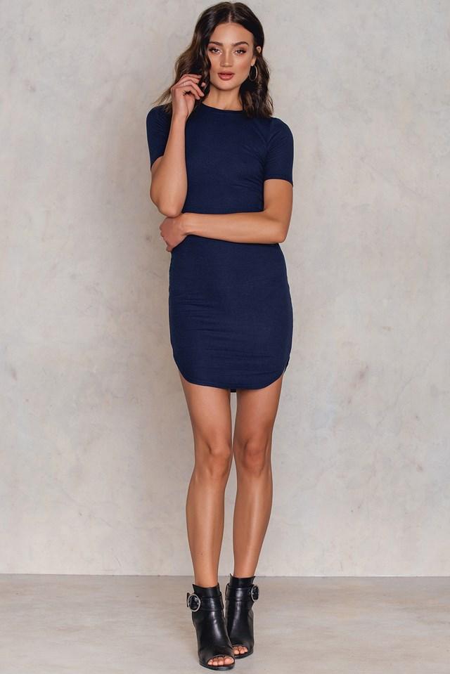 Hedvig T-Shirt Dress Navy Blue