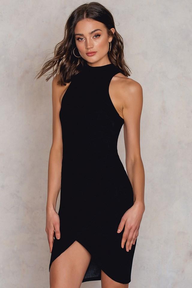 Ella Wrap Dress Black