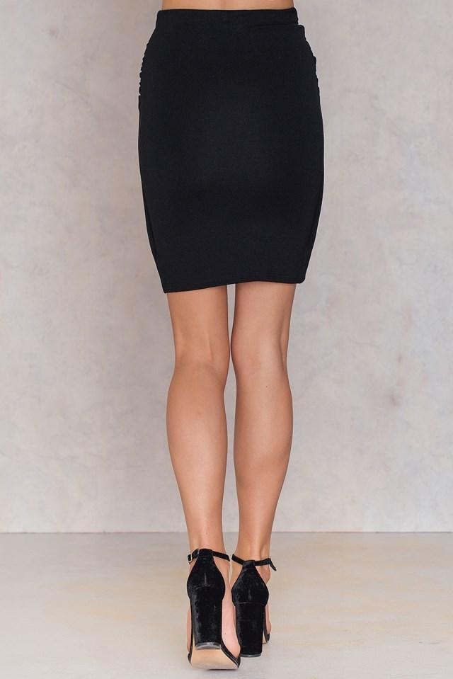 Sandra knot Skirt Black