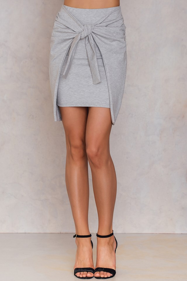 Sandra knot Skirt Light Grey Melange