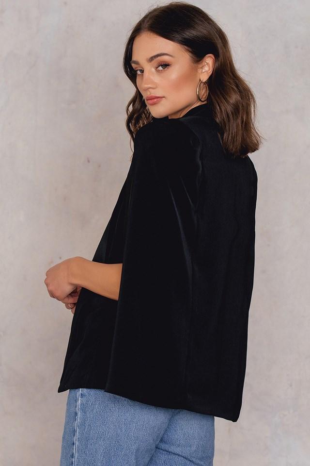 Elvira Cape Blazer Black