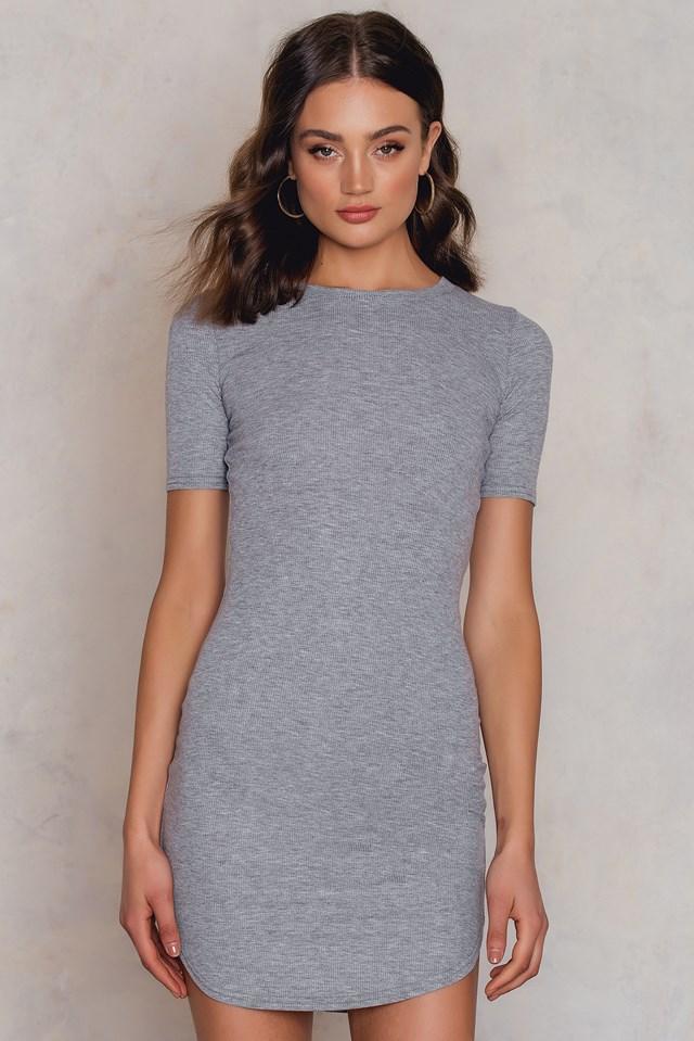 Hedvig T-Shirt Dress Mid Greymelange