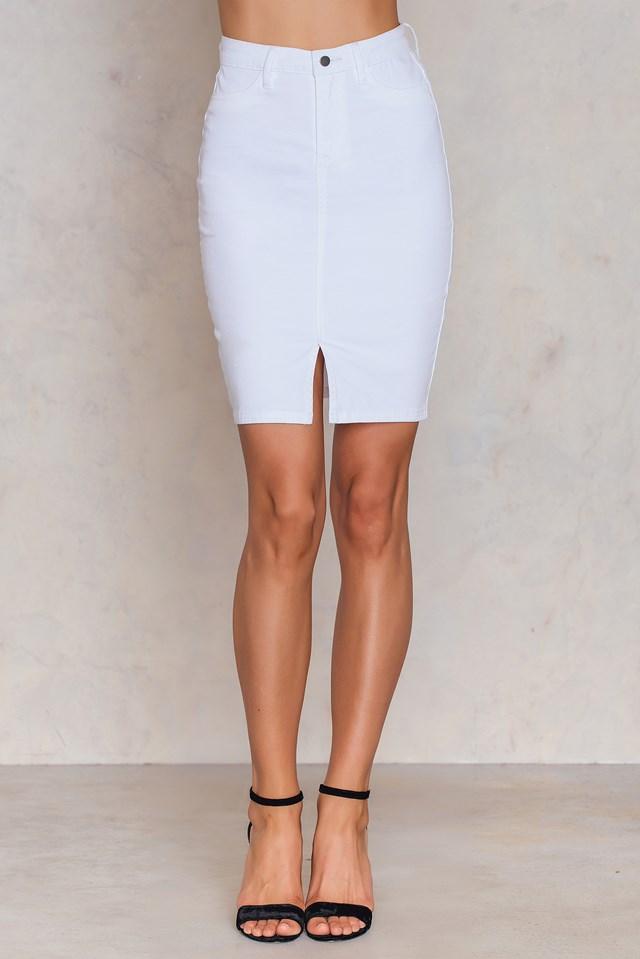 Matilda Denim Skirt White