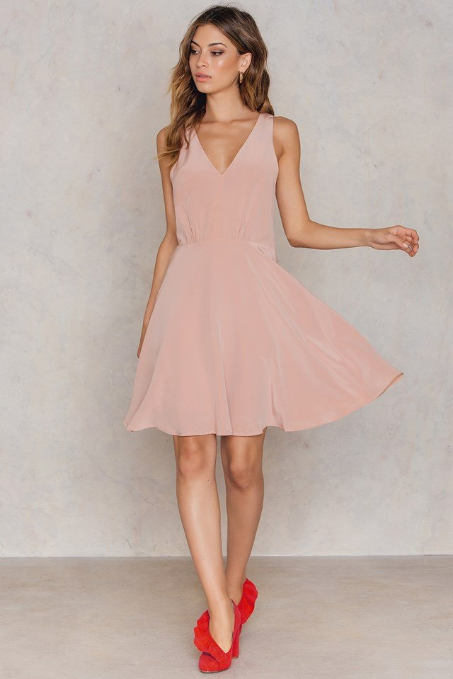 Inessa Dress Mahogany Rose