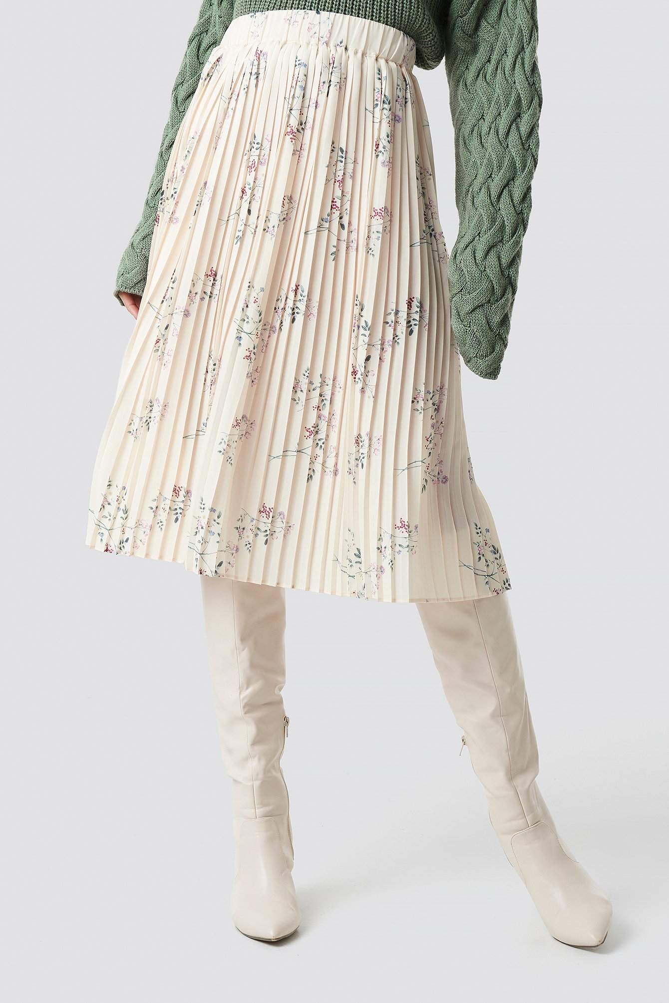 Pleated Garden Flower Skirt NA-KD.COM