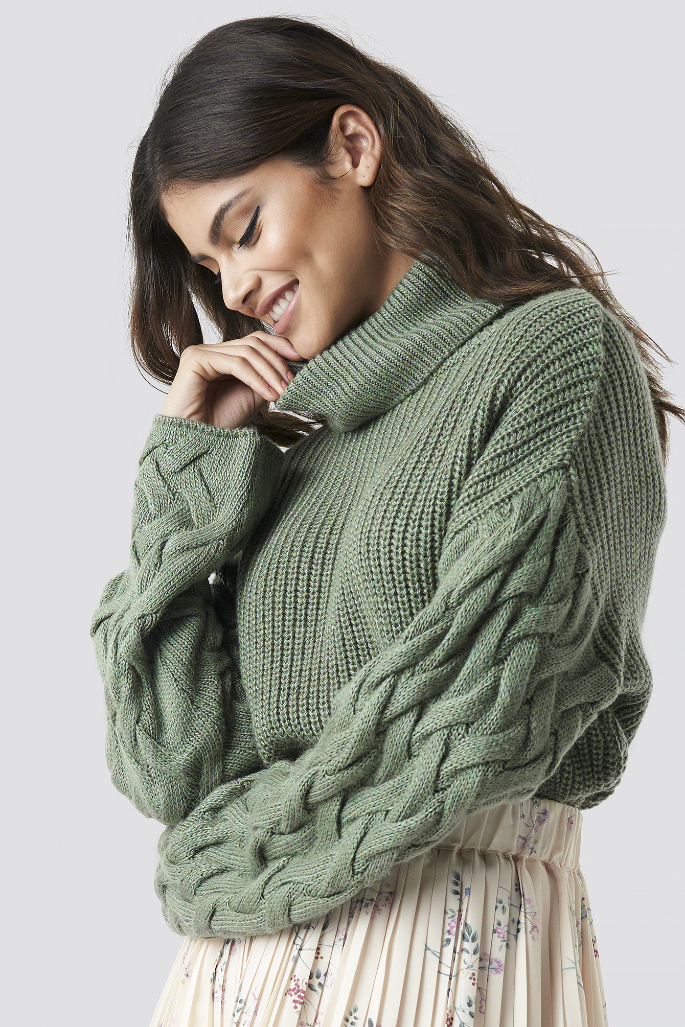 Sleeve Detail Knitted Sweater NA-KD.COM
