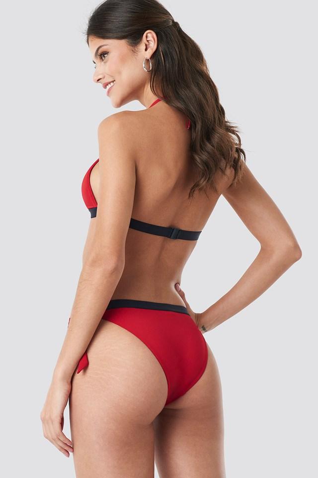 Cheeky Side Tie Bikini Tango Red