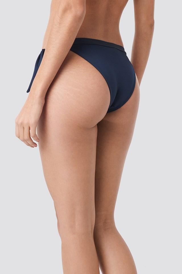 Cheeky Side Tie Bikini Navy Blazer