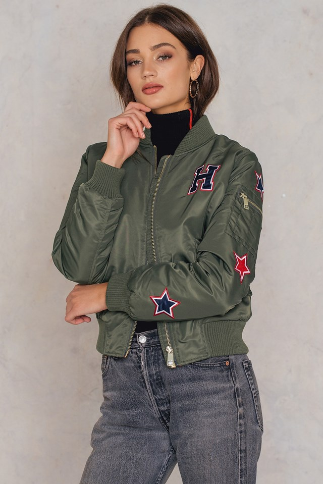 Claudia Thermore Insulated Bomber Grape Leaf