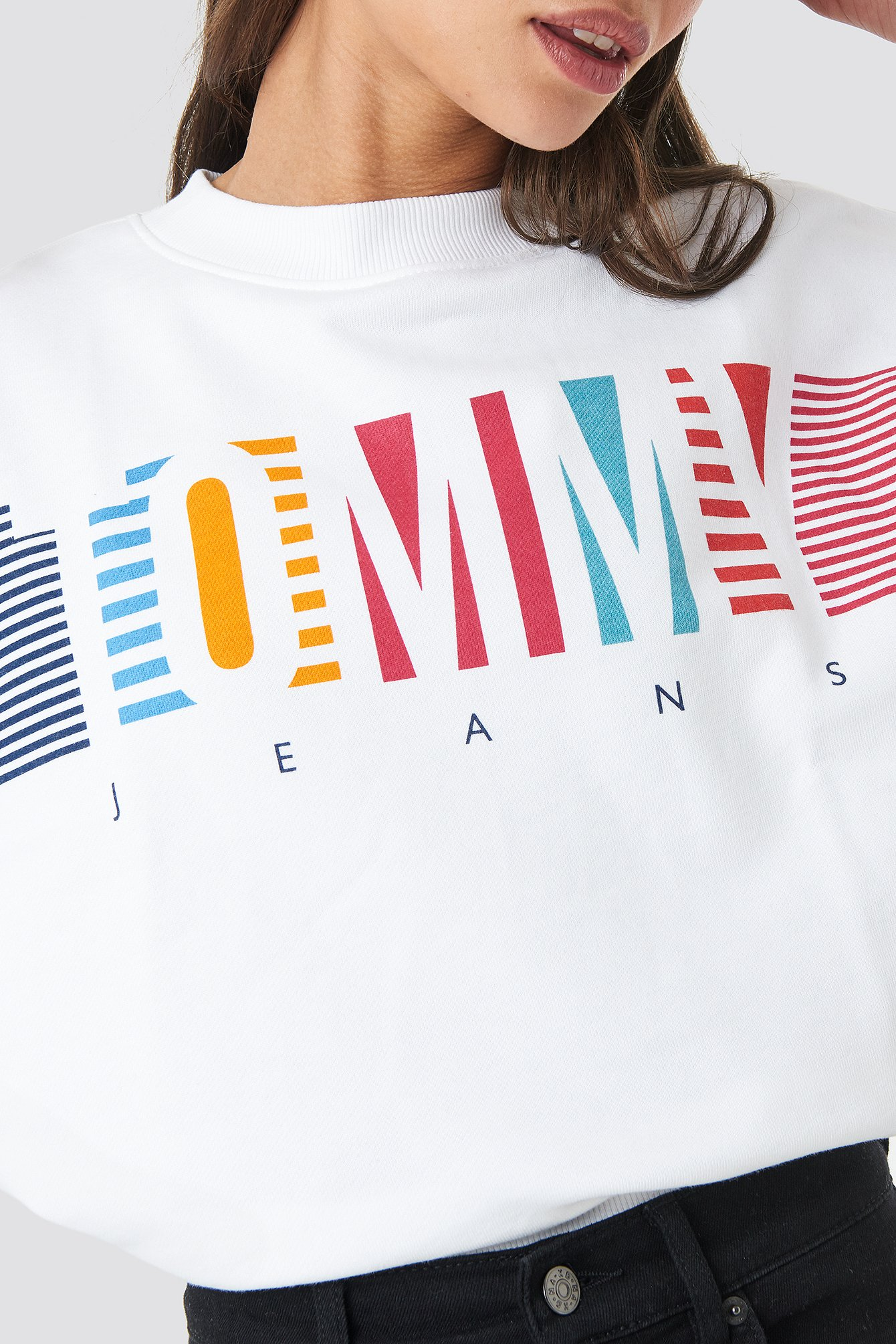 Colorful Block Tommy Crew Neck NA-KD.COM