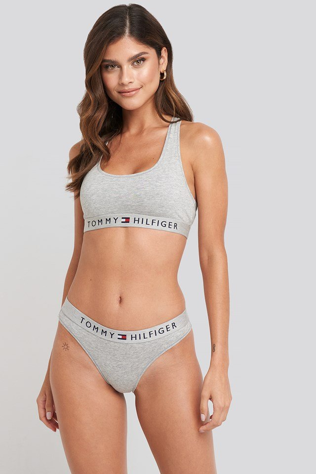 Cotton Coordinate Bikini Grey Heather