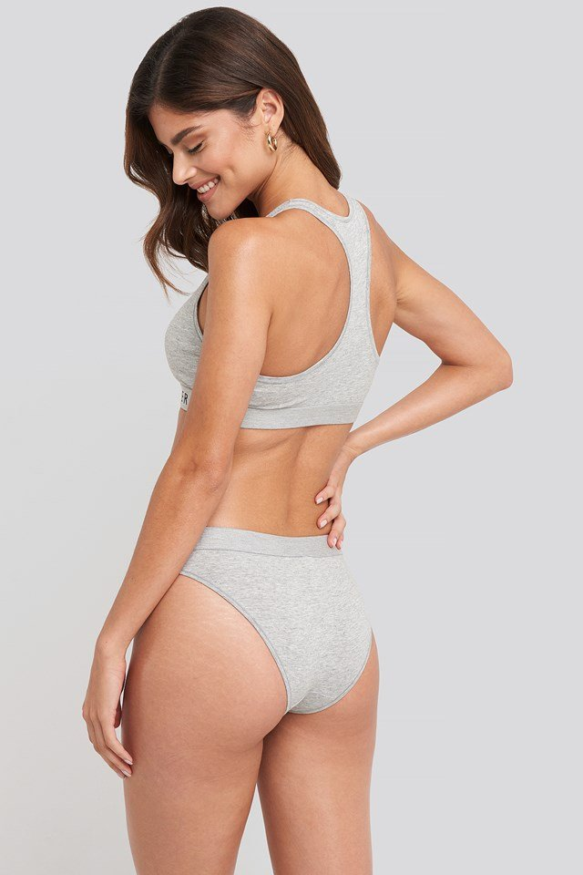 Cotton Coordinate Bikini Grey Heather