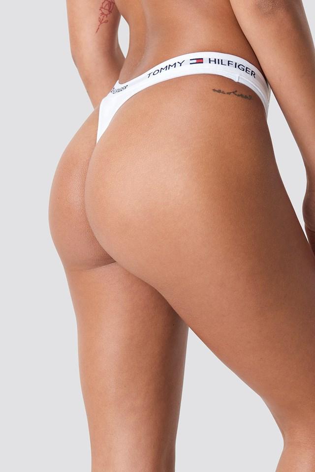 Cotton Iconic Thong White