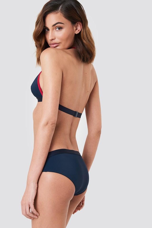 Góra bikini Fixed Triangle Navy Blazer