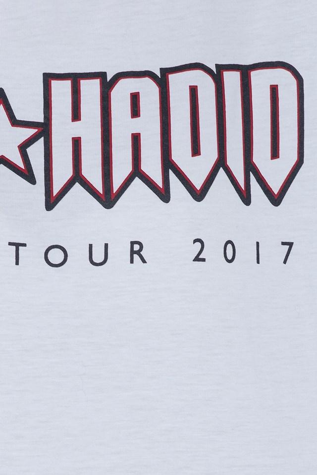 Gigi Hadid Rock Tour Crop Tee Classic White