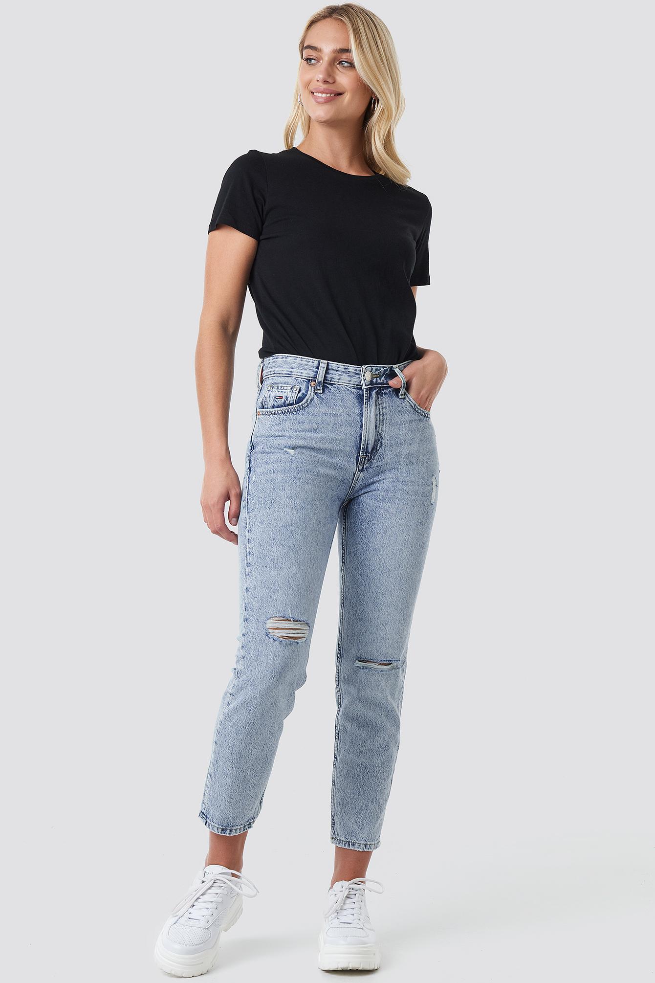 4406d4f7 High Rise Slim Izzy Crop Jeans Silver Lt Bl Rig | na-kd.com