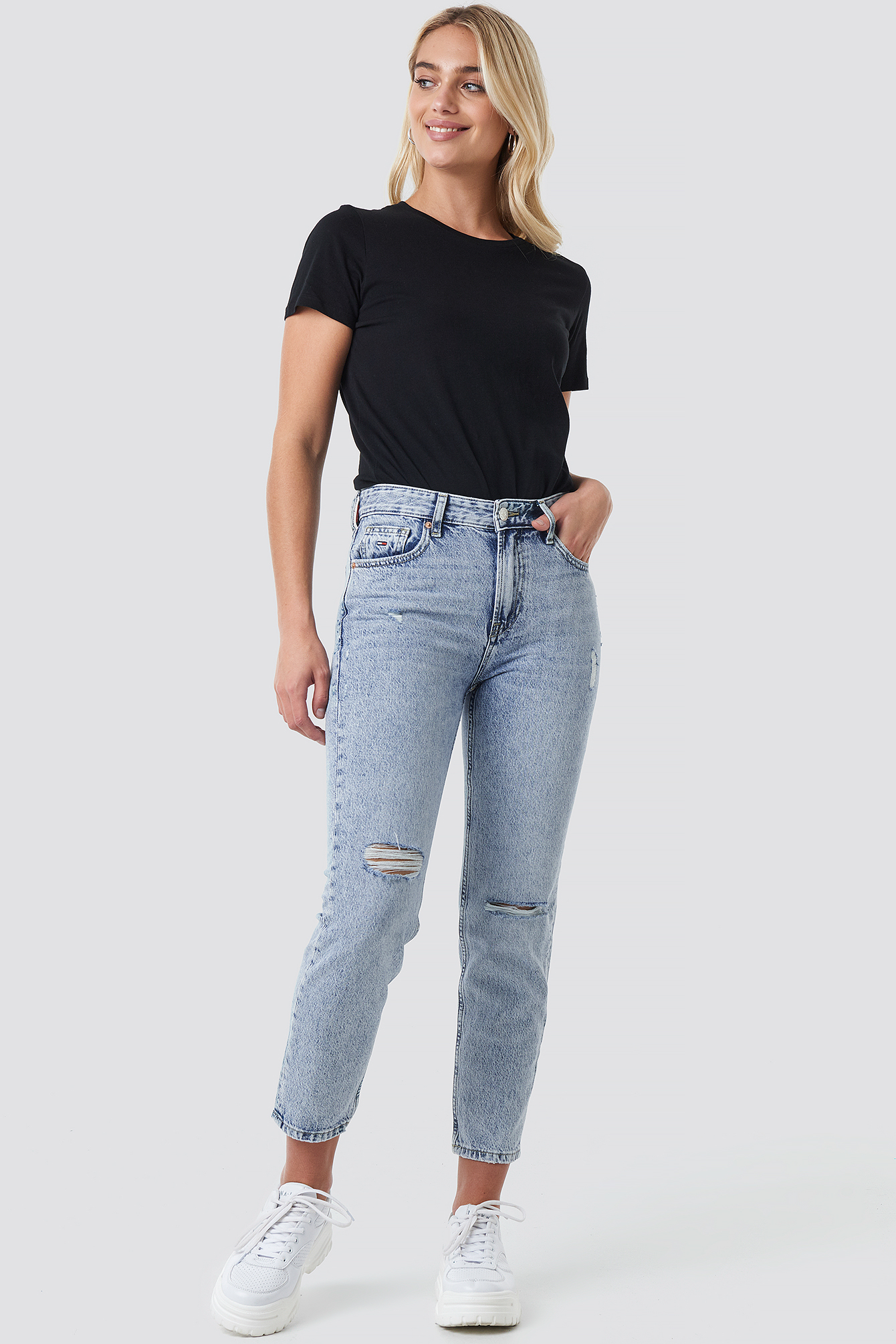 High Rise Slim Izzy Crop Jeans NA-KD.COM
