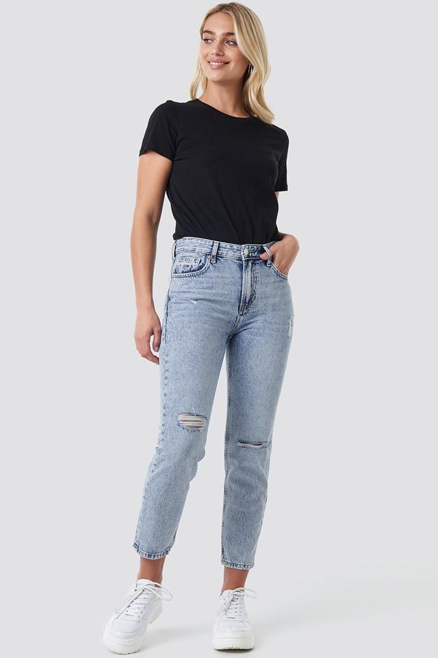 High Rise Slim Izzy Crop Jeans NA-KD.COM
