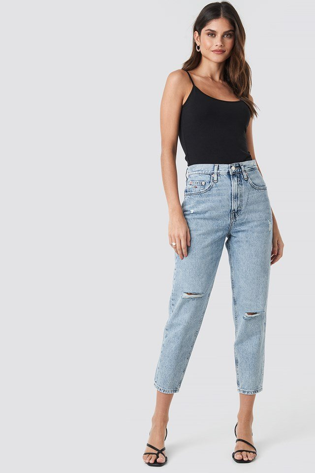 High Rised Tapered Jeans Silver Lt Bl Rig