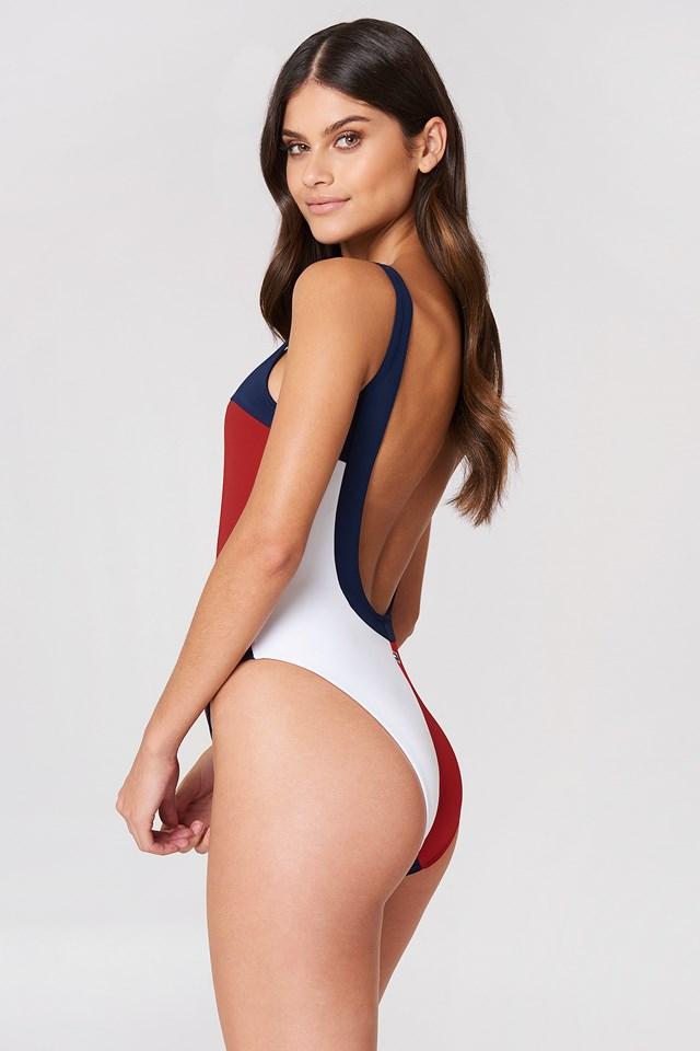 One Piece Swimsuit Navy Blazer