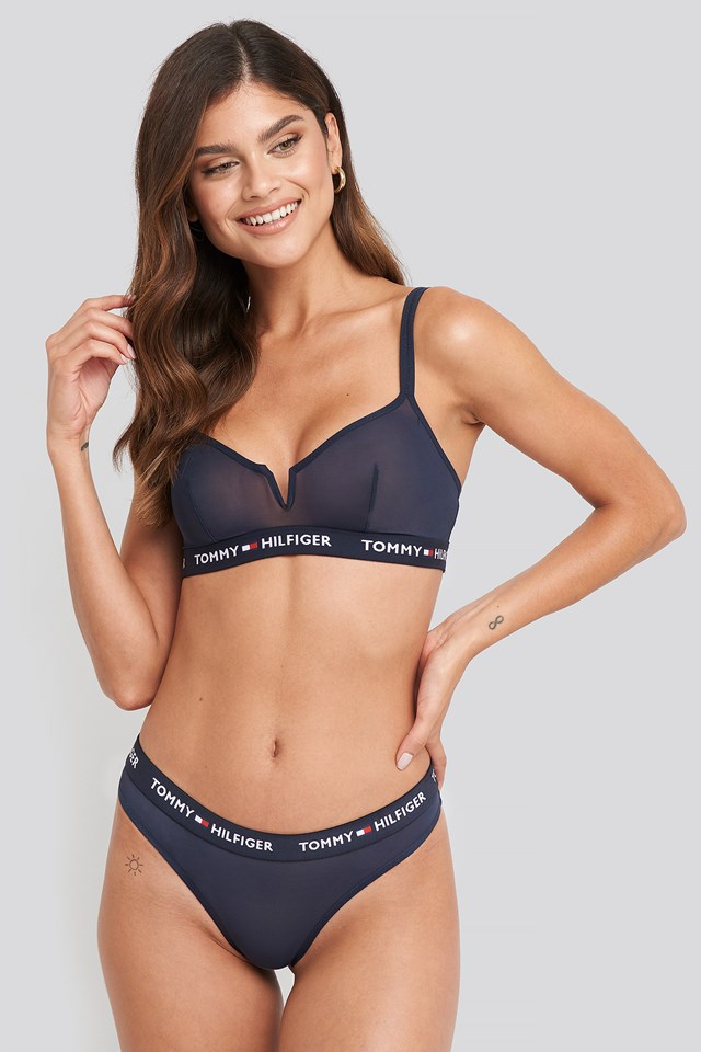 Thong Coordinate Mesh Panties Navy Blazer