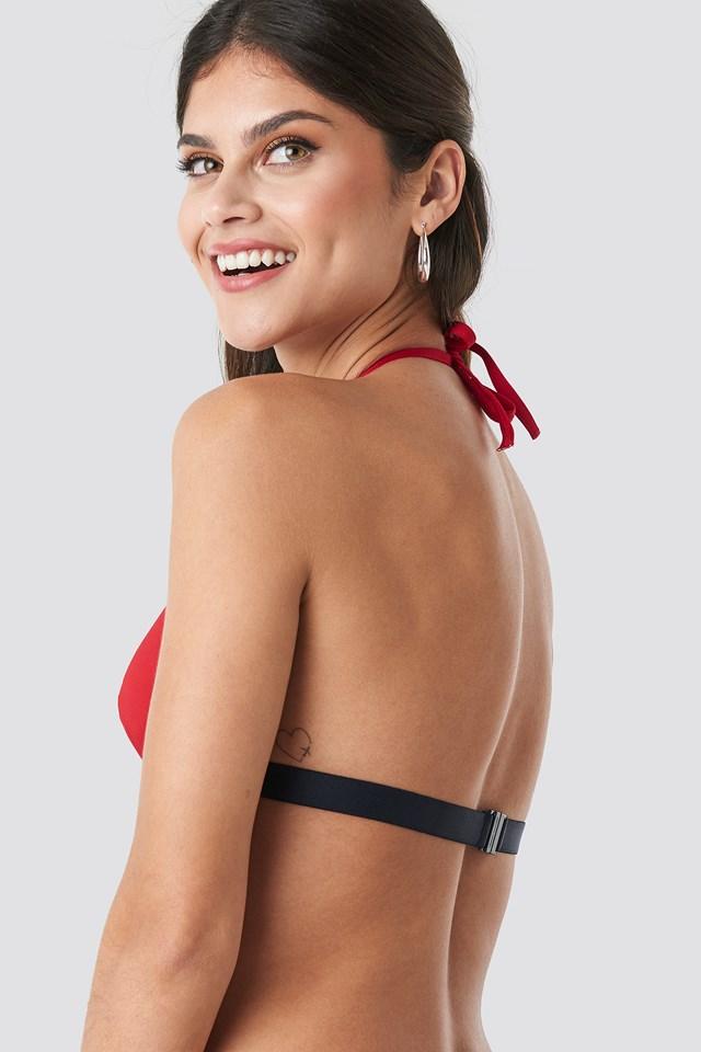 Triangle Fixed Bikini Tango Red