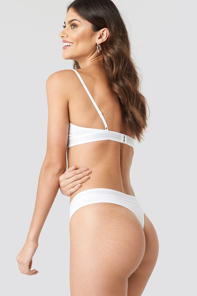 Triangle Flag Bra White