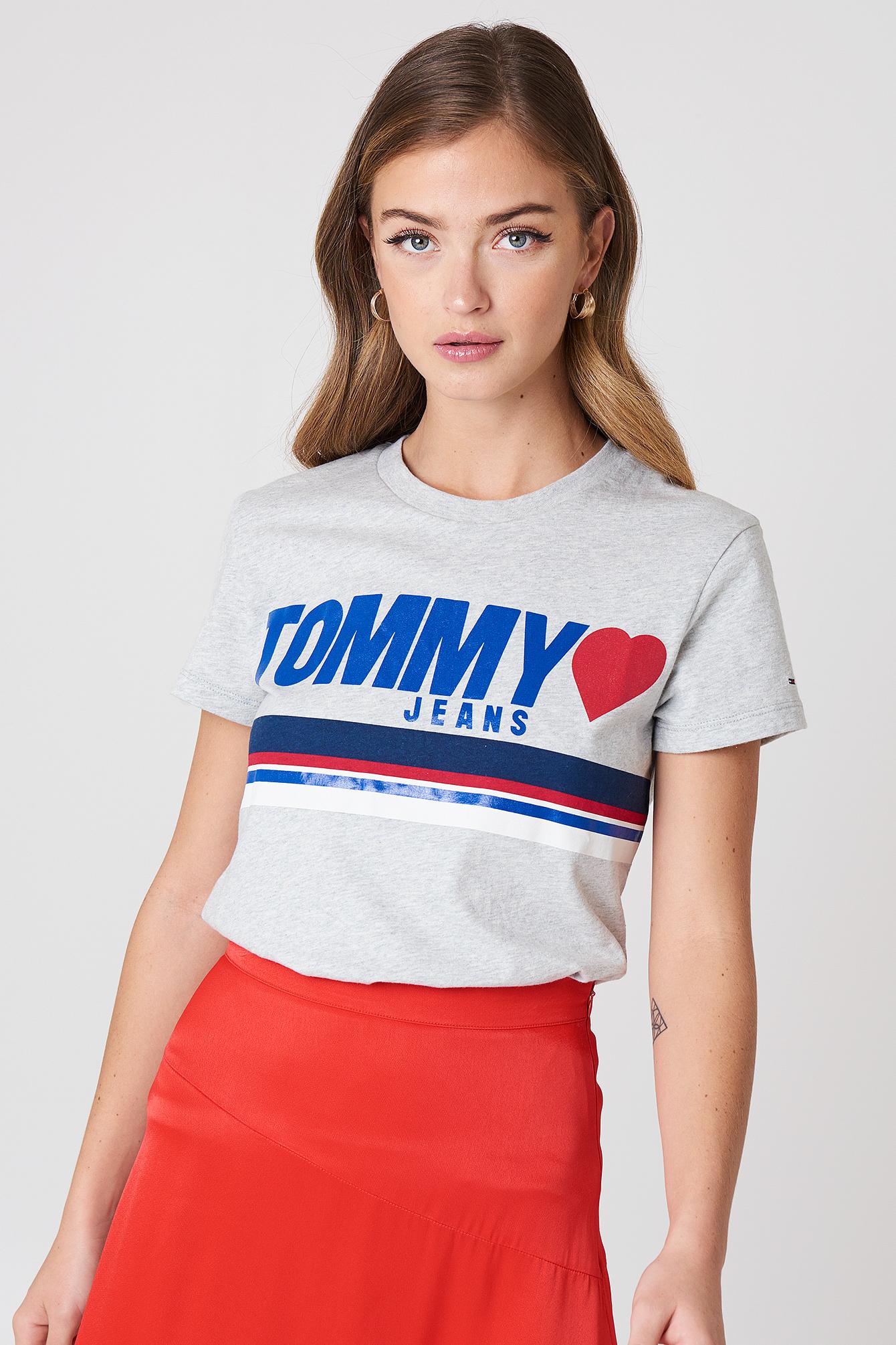 T-shirt z nadrukiem z logo NA-KD.COM