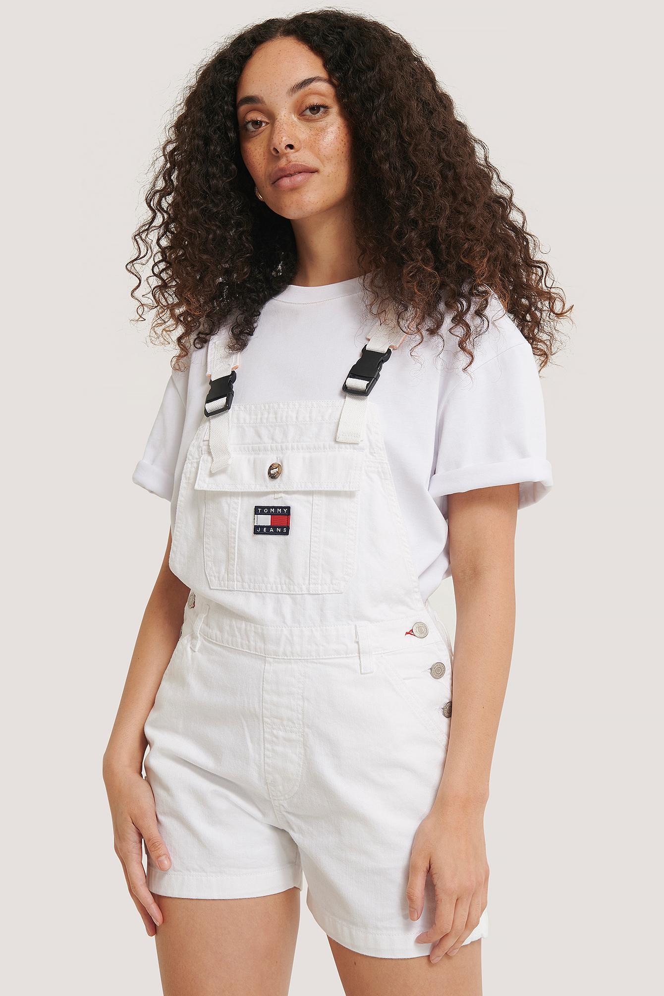 tommy jeans -  Latzhose-Short - White
