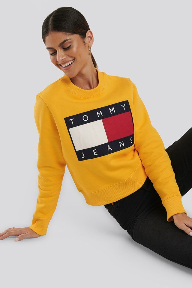 Tommy Flag Crew Yellow