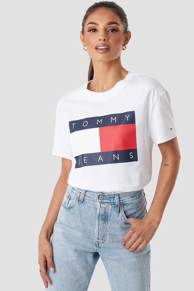 Tommy Flag Tee Classic White