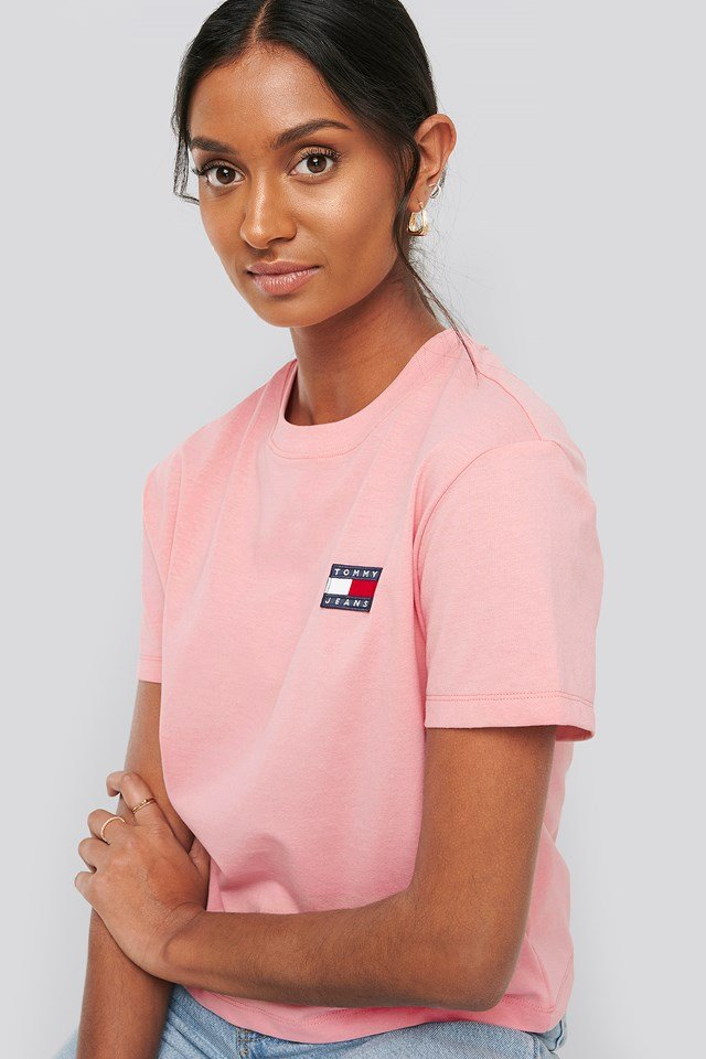Tommy Jeans Badge Tee Pink