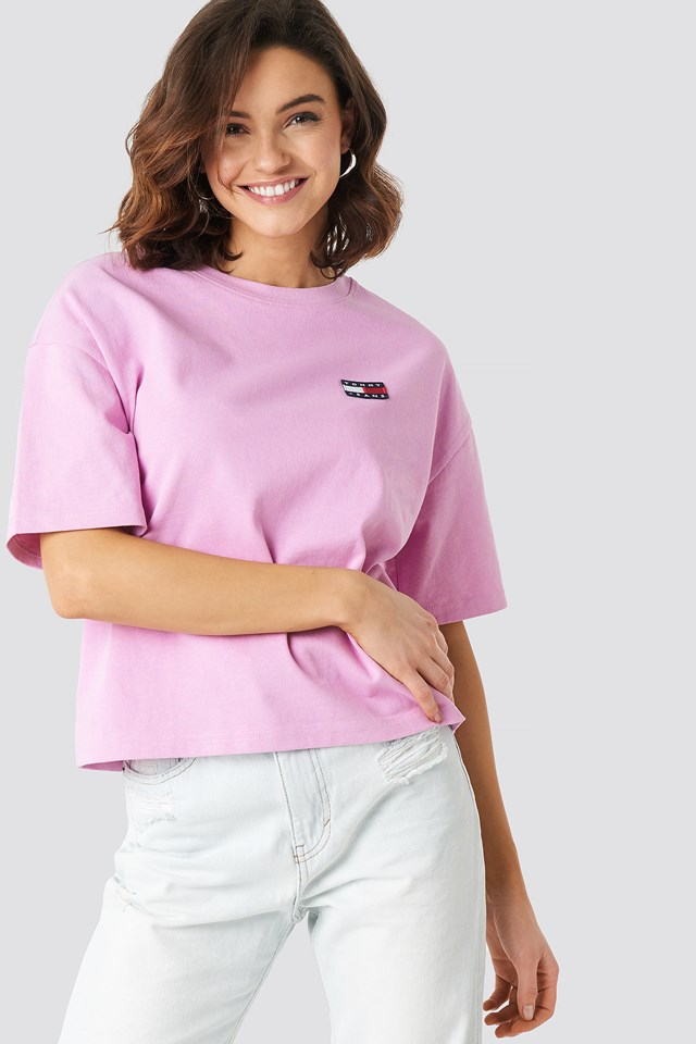 Tommy Jeans Badge Tee Lilac Chiffon