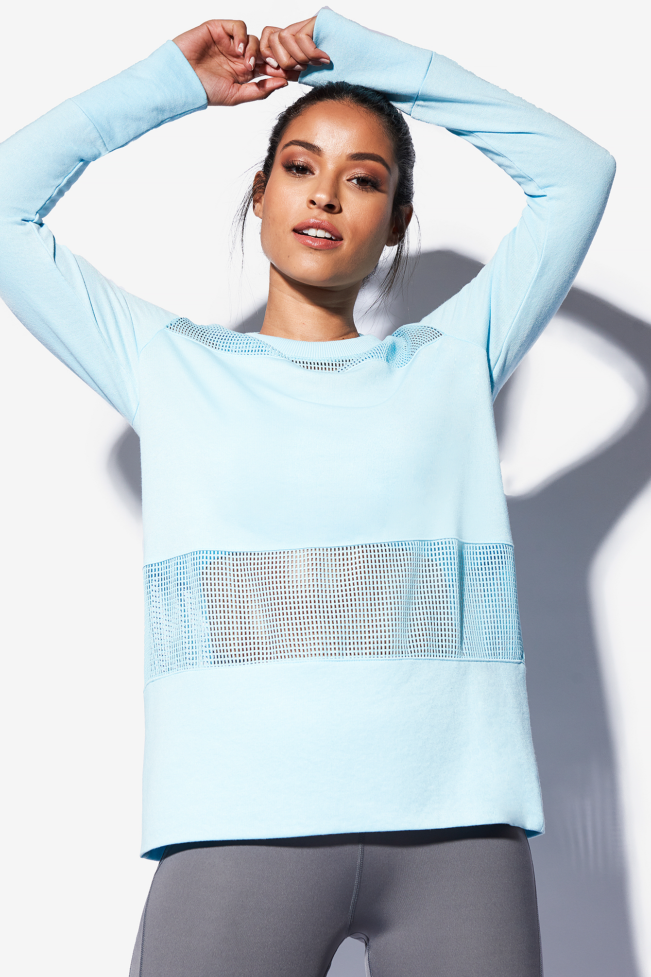 Mixed Mesh Sweater NA-KD.COM